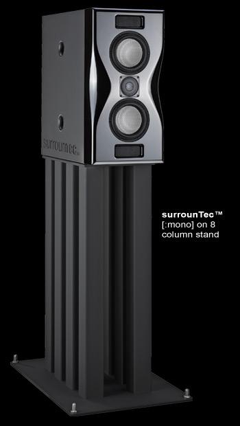 surrounTec Mono on stand
