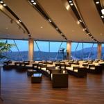 Die Lounge am Abend - ein großer Raum